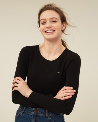 Thelma Solid Tee, Black