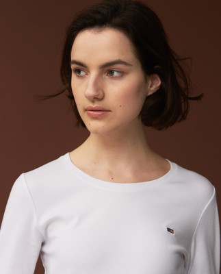 Thelma Solid Tee, White