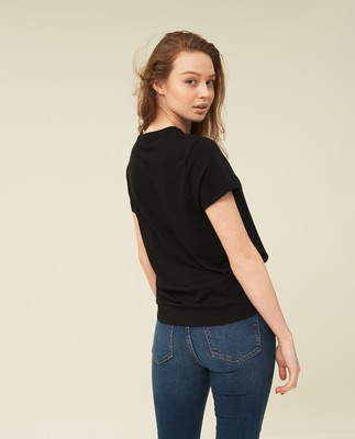 Ashley Jersey Tee, Black