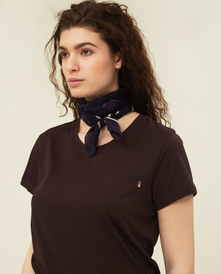 Ashley Jersey Tee, Dark Brown