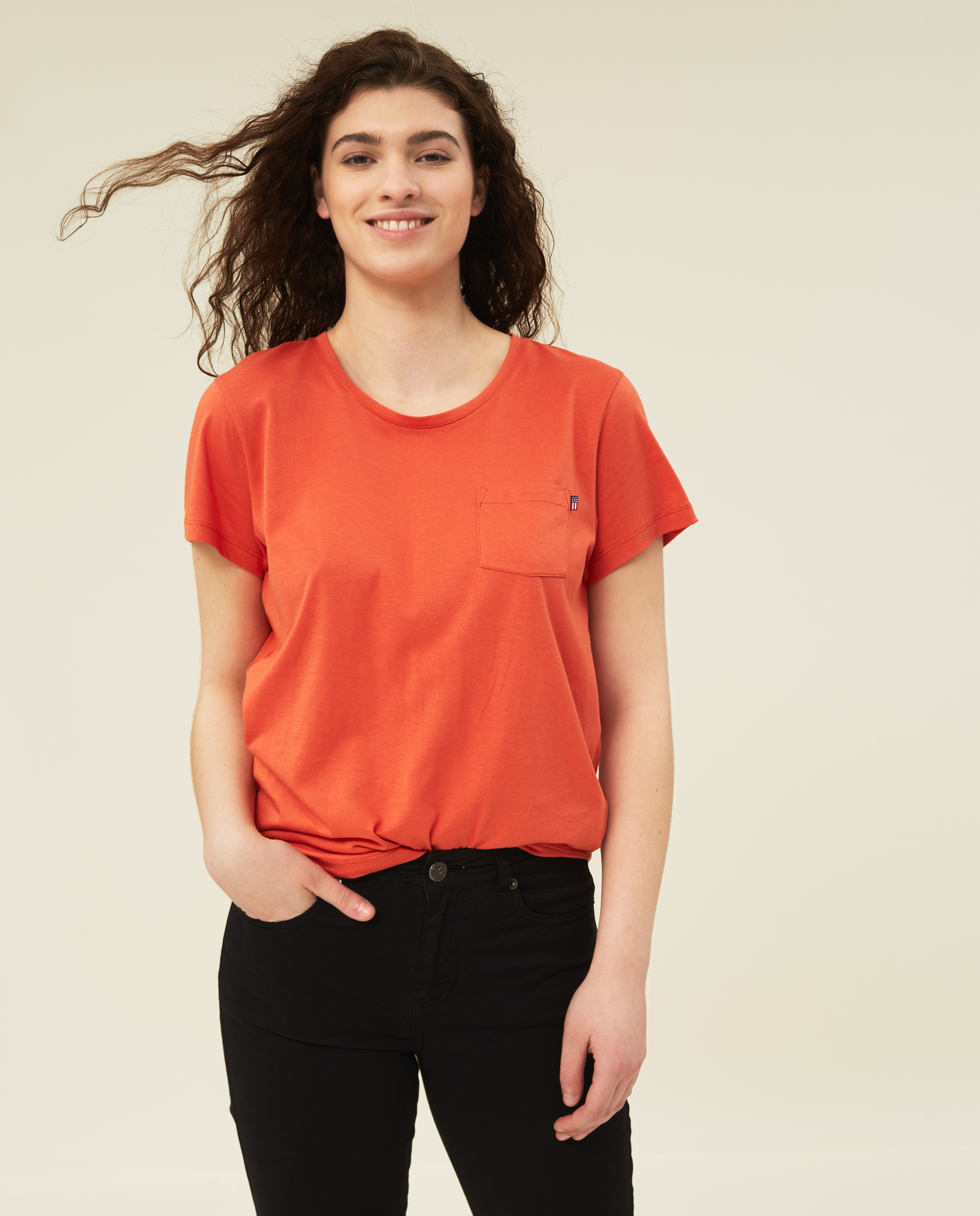 Ashley Jersey Tee, Orange