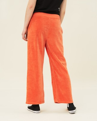Leona Velour Pants, Orange
