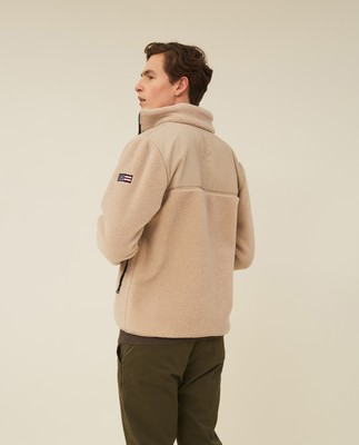 Maurice Sherpa Wool Blend Jacket, Beige
