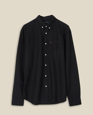 Kyle Organic Cotton Oxford Shirt, Black