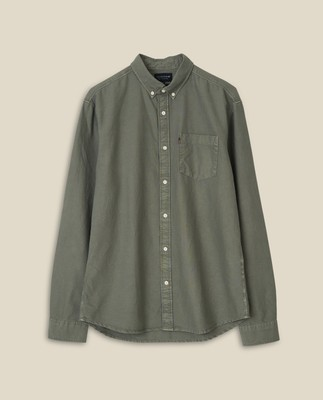 Kyle Organic Cotton Oxford Shirt, Green