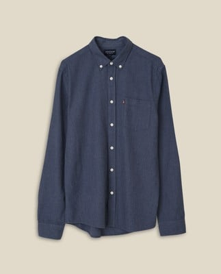 Peter Lt Flannel Shirt, Indigo