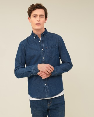 August Denim Shirt, Medium Blue