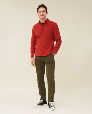 August Cord Shirt, Orange