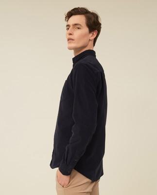 August Cord Shirt, Dark Blue