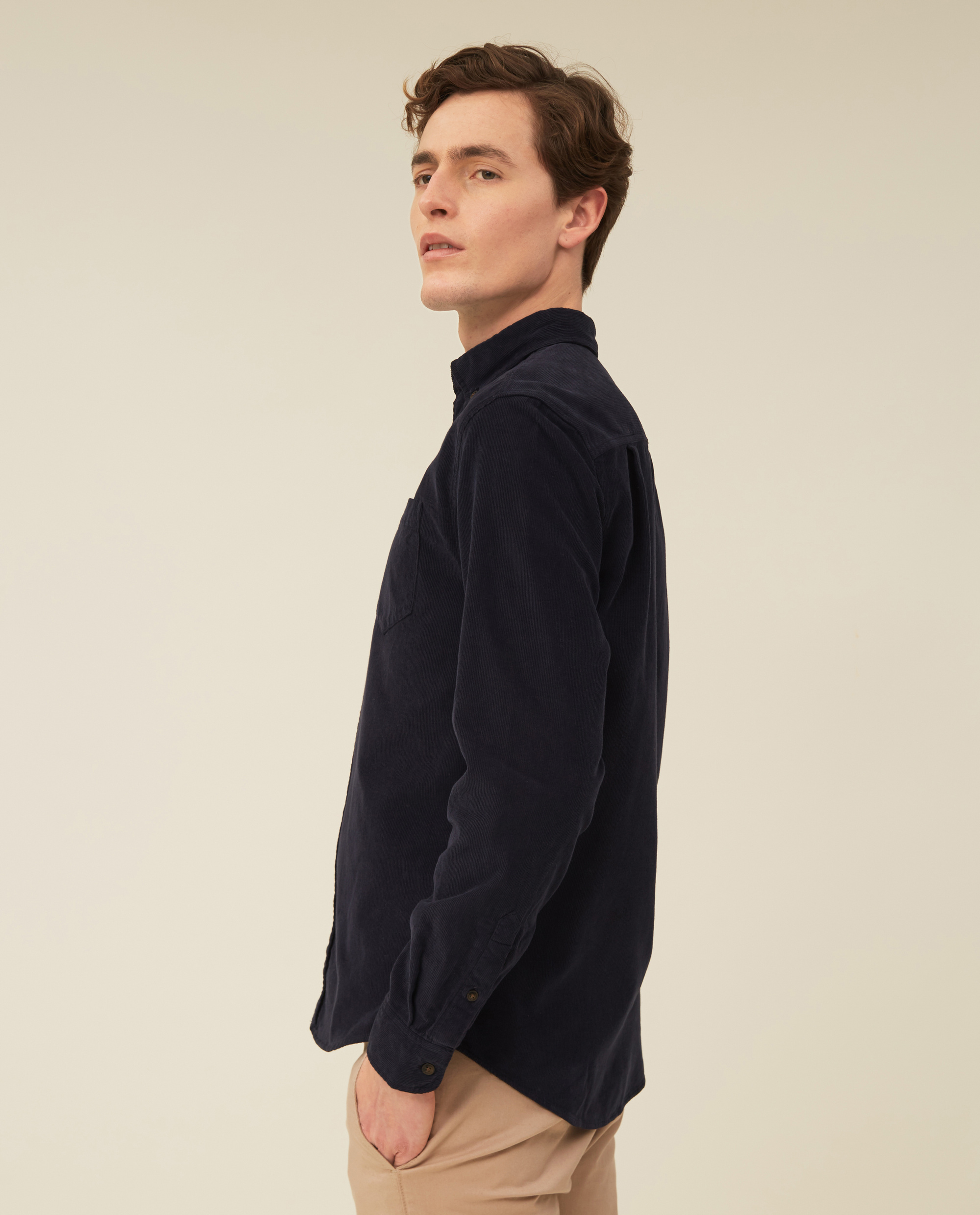 August Cord Shirt, Dark Blue