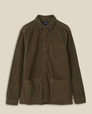 Robert Cord Overshirt, Green