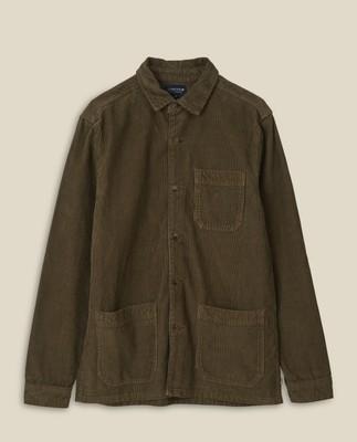 Robert Cord Overshirt, Green