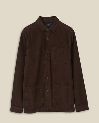 Robert Cord Overshirt, Brown