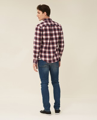 Peter Lt Flannel Checked Shirt, Red/Blue/White