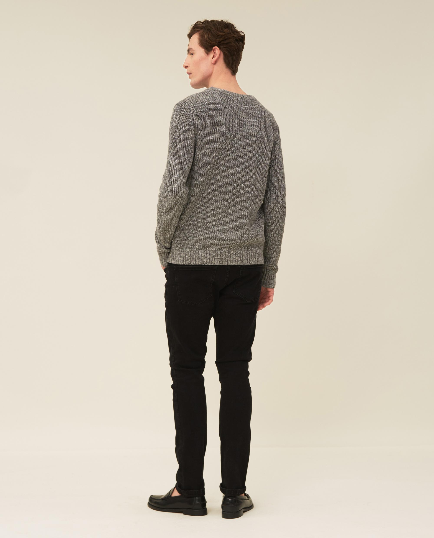 Claude Organic Cotton Twisted Yarn Sweater, Multi Gray