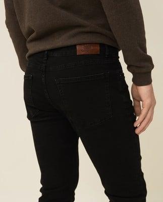 Ray 5-Pocket Jeans, Black Wash