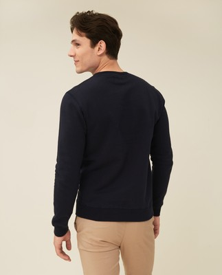 Barry Organic Cotton Sweatshirt, Dark Blue