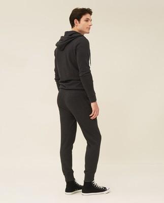 Ivan Track Pants, Dark Gray Melange