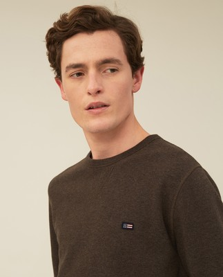 Mateo Sweatshirt, Brown Melange