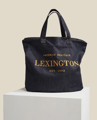Newton Denim Bag, Dark Blue Denim