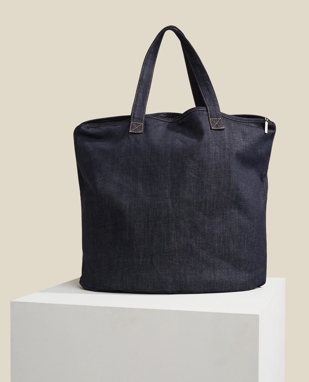 Newton Denim Bag, Dark Blue Denim