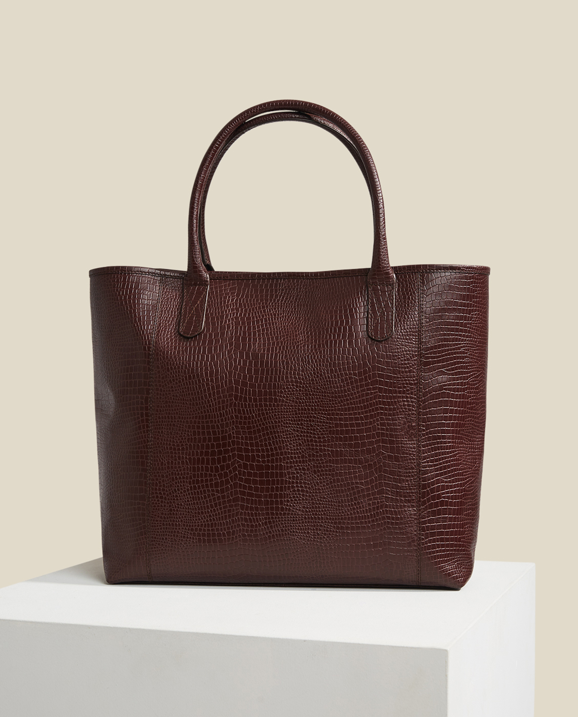 Willow Croco Leather Tote