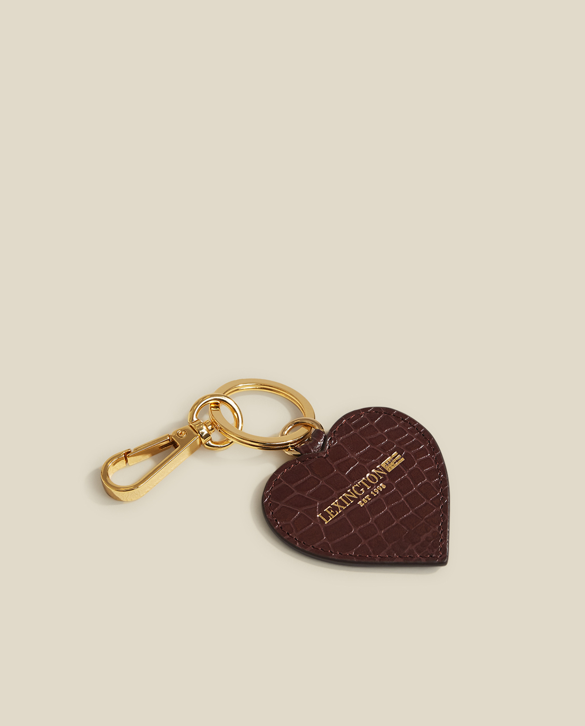 Haven Croco Leather Keyring