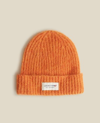 Michelle Alpaca Blend Beanie, Orange Melange