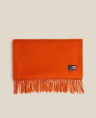 Massachussets Recycled Wool Blend Scarf, Orange