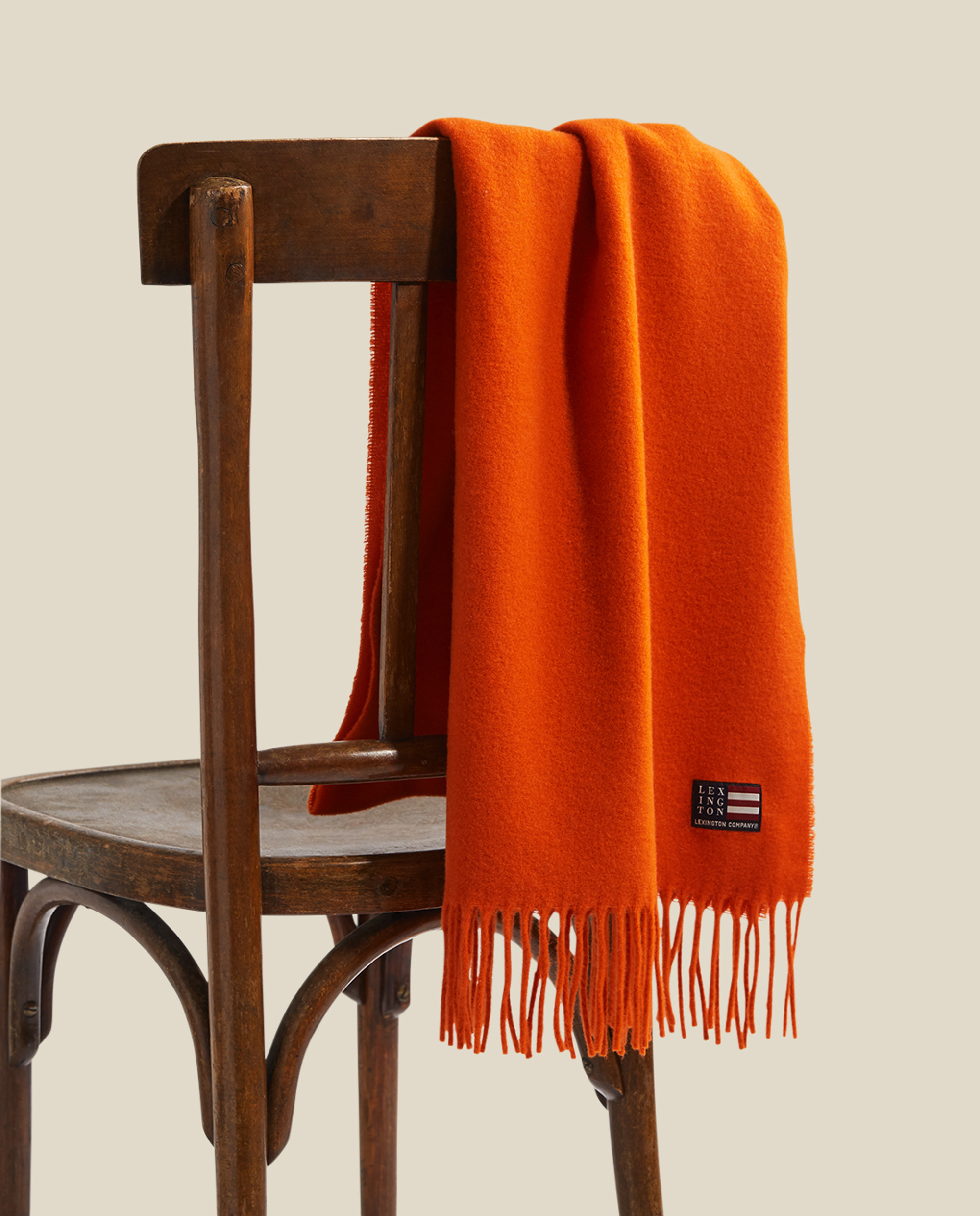 Massachussets Recycled Wool Blend Scarf, Orange