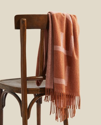 Aurora Recycled Wool Blend Scarf, Orange/Pink