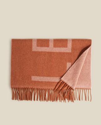 Aurora Recycled Wool Blend Scarf, Orange/Pink