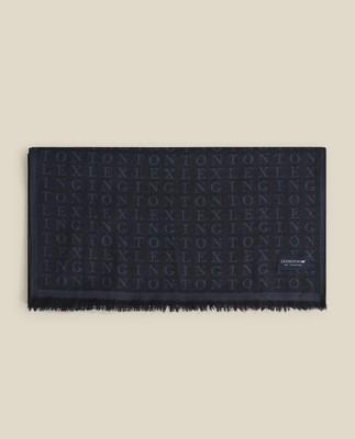 Bloom Merino Wool Jacquard Scarf, Blue Multi