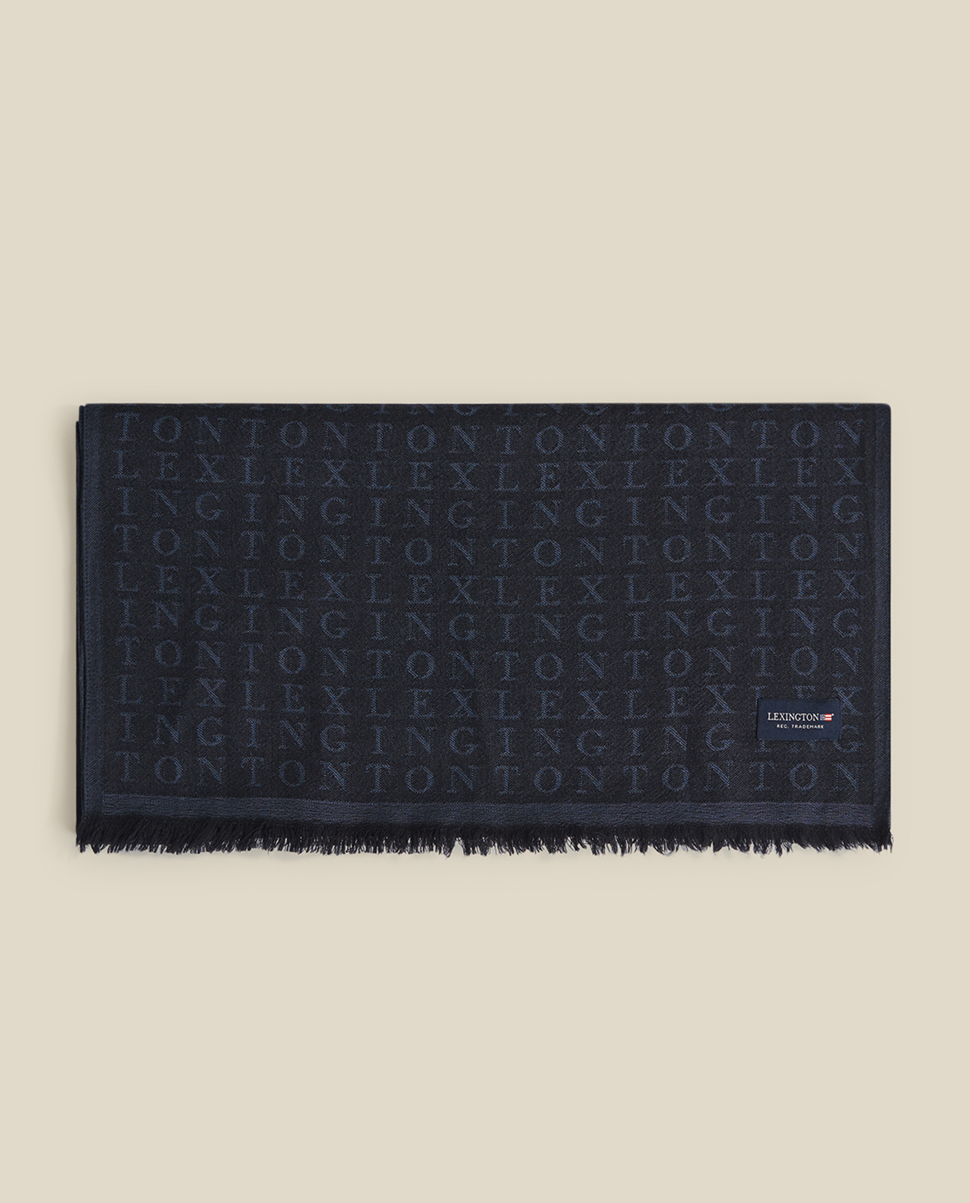 Bloom Merino Wool Jacquard Scarf, Blue Multi
