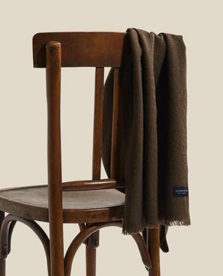 Bloom Merino Wool Jacquard Scarf, Brown Mutli