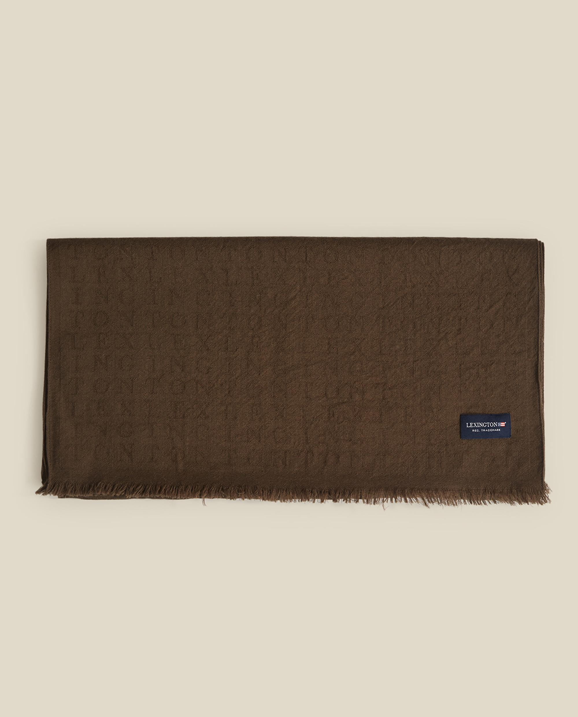 Bloom Merino Wool Jacquard Scarf, Brown Mutli