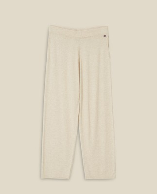 Des Cotton/Bamboo Knitted Pants, Offwhite