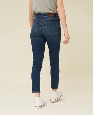 Zoe Denim Pants, Medium Blue Denim