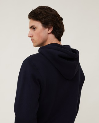 Perry Organic Cotton Hood, Dark Blue