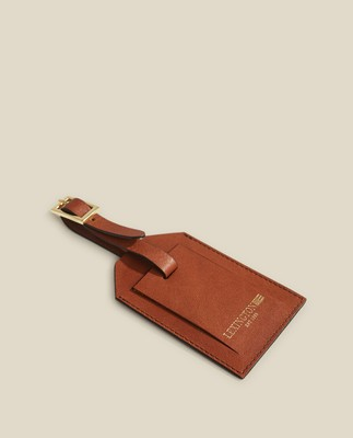 Timber Leather Luggage Tag