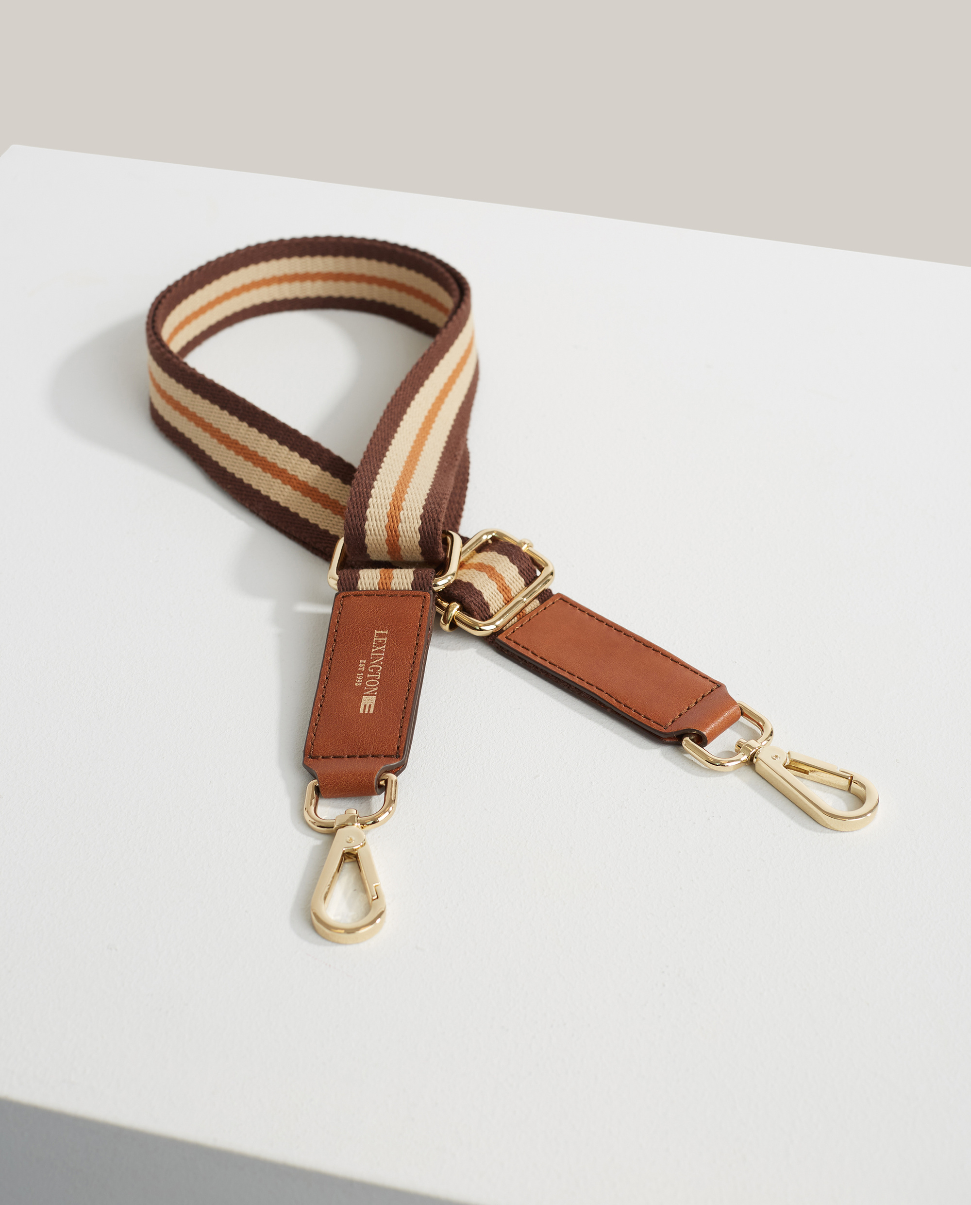 Hampton Brown Stripe Shoulder Strap