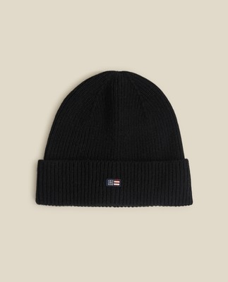 Stockton Lambswool Beanie, Black