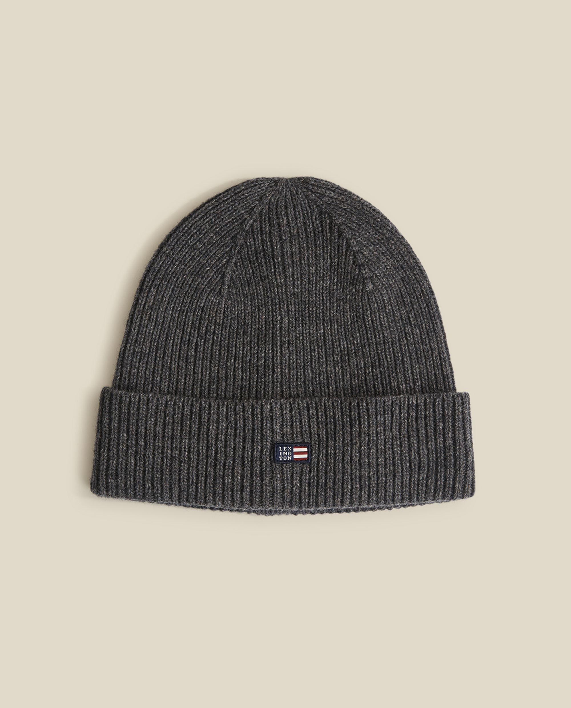 Stockton Lambswool Beanie, Dark Gray Melange
