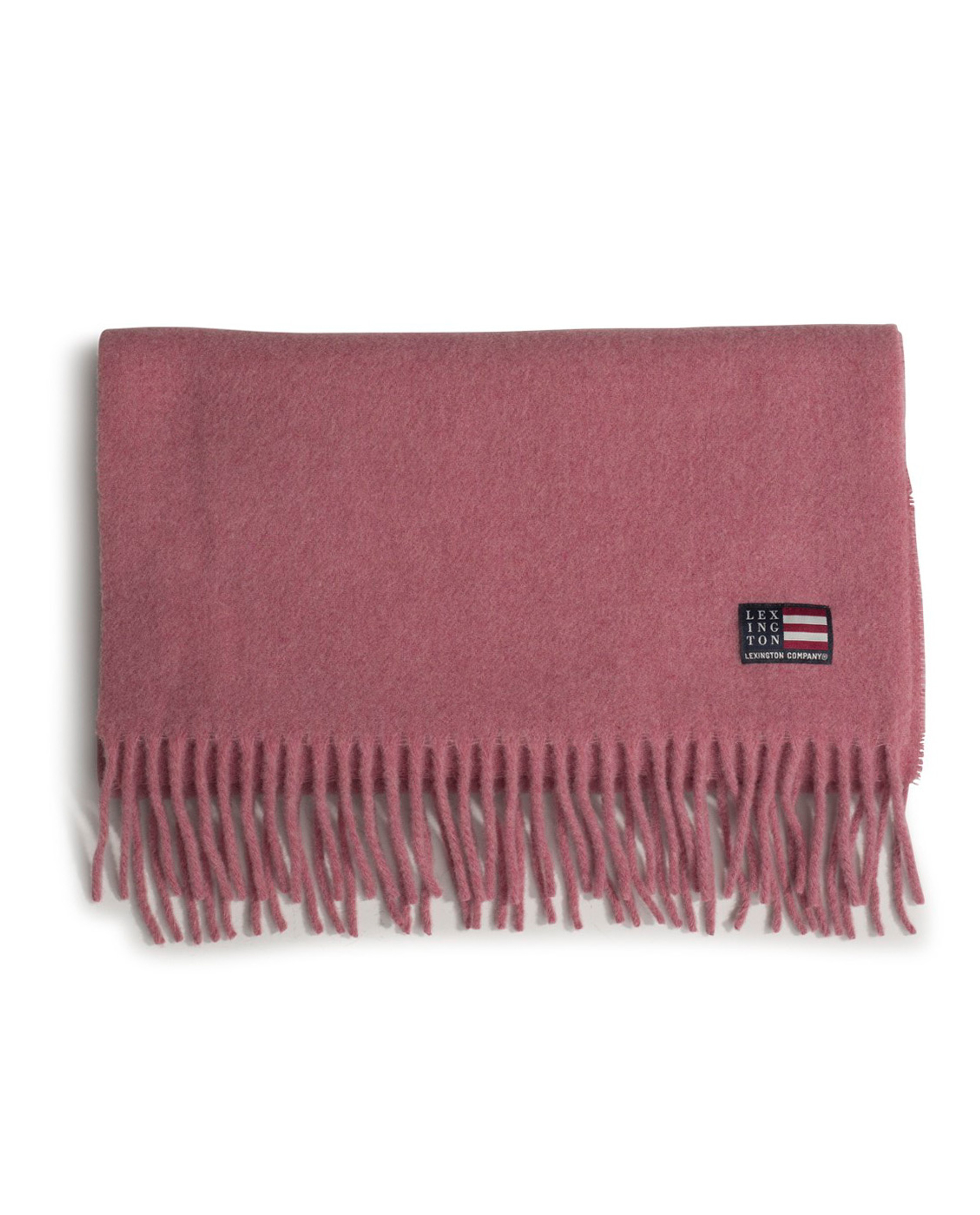 Massachussets Recycled Wool Blend Scarf, Pink