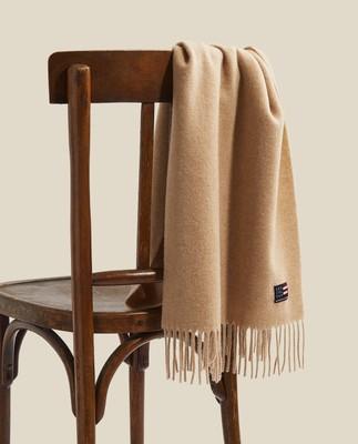 Massachussets Recycled Wool Blend Scarf, Light Beige Melange