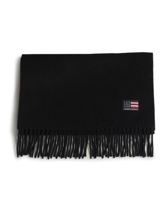 Massachussets Recycled Wool Blend Scarf, Dark Blue