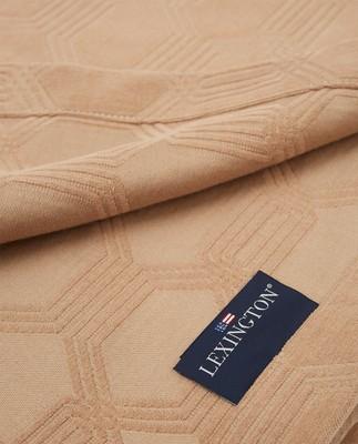 Jacquard Cotton Velvet Bedspread, Dark Beige