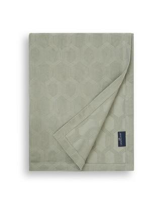 Jacquard Cotton Velvet Bedspread, Sage Green
