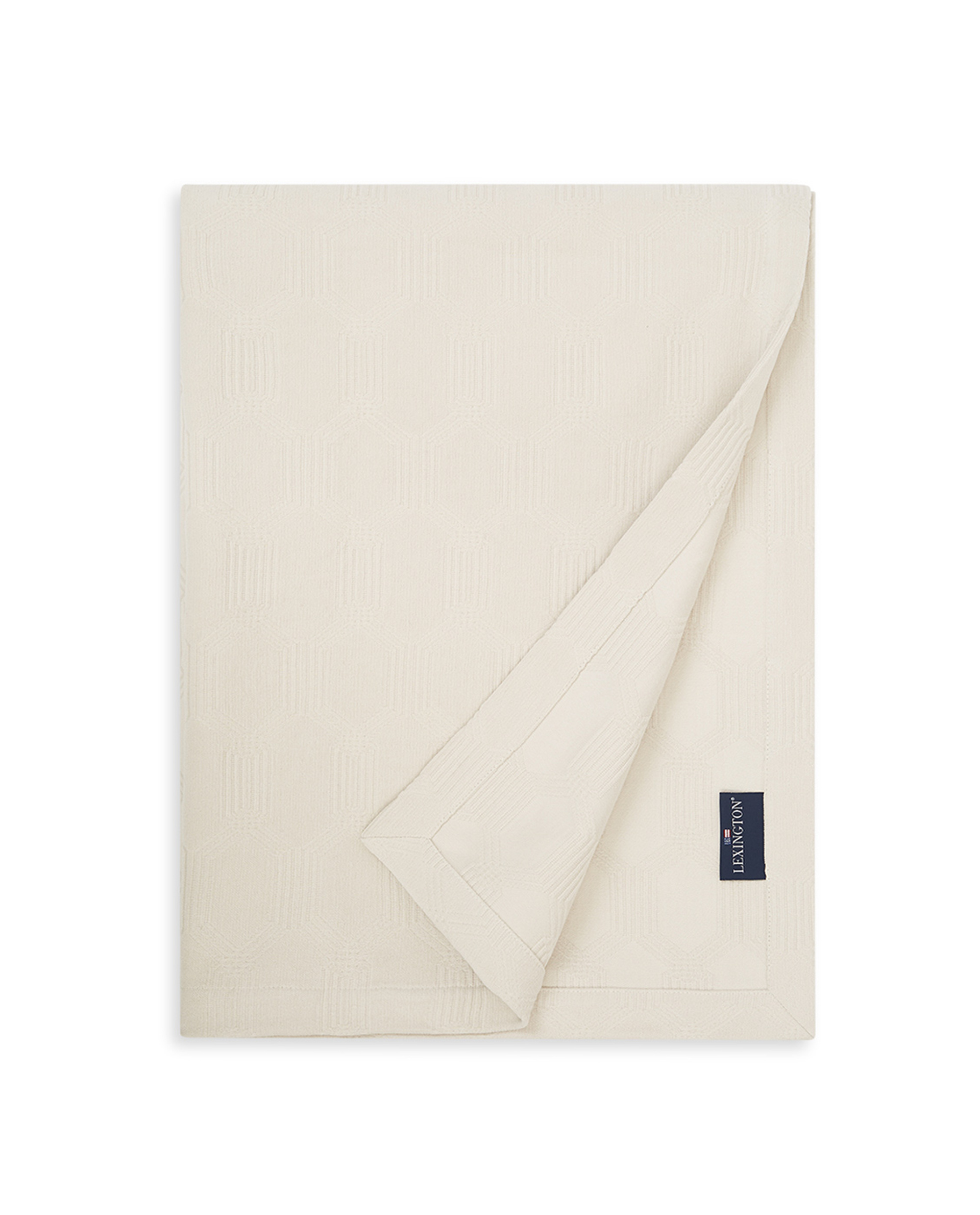 Jacquard Cotton Velvet Bedspread, Off White