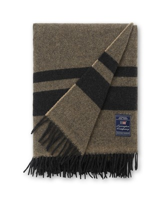 Herringbone Recycled Wool Throw, Brown